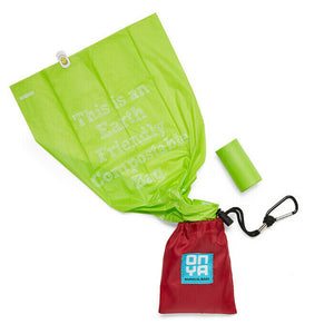 Dog waste Disposal Bags with carry pouch