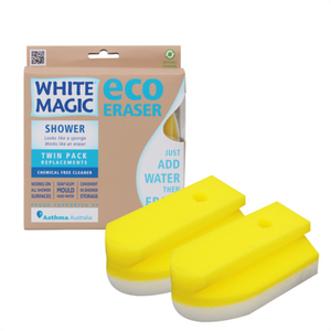 Shower Eraser Replacement 2 Pack - White Magic