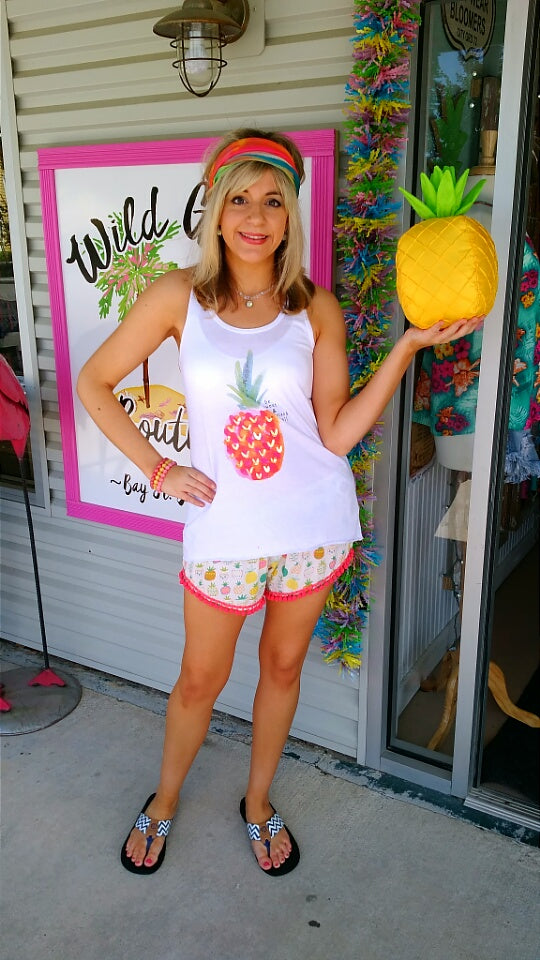 Pineapple Pom Short