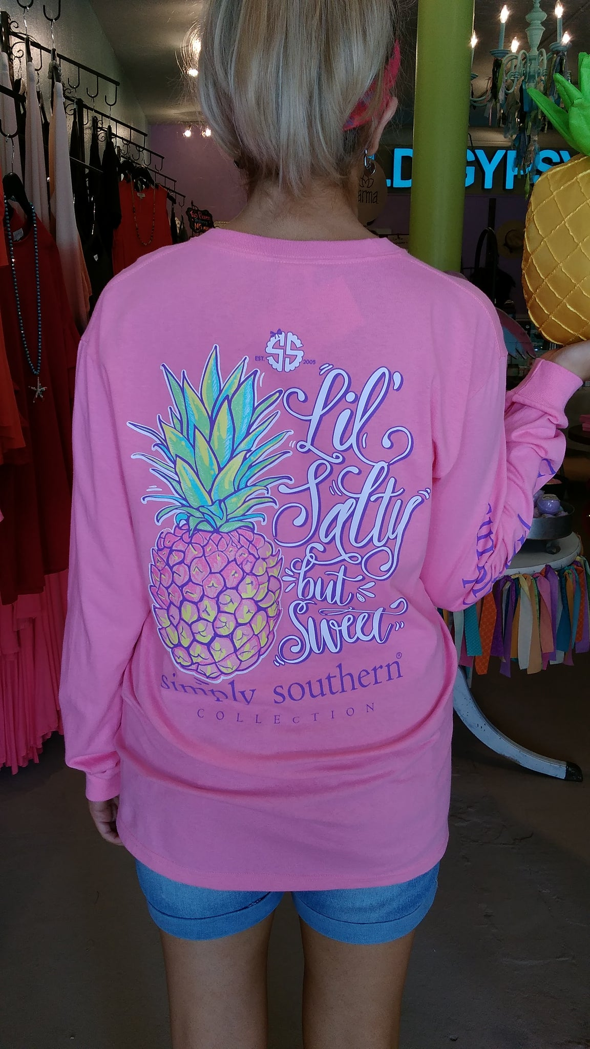 Glitter Salty Pineapple LS Tee