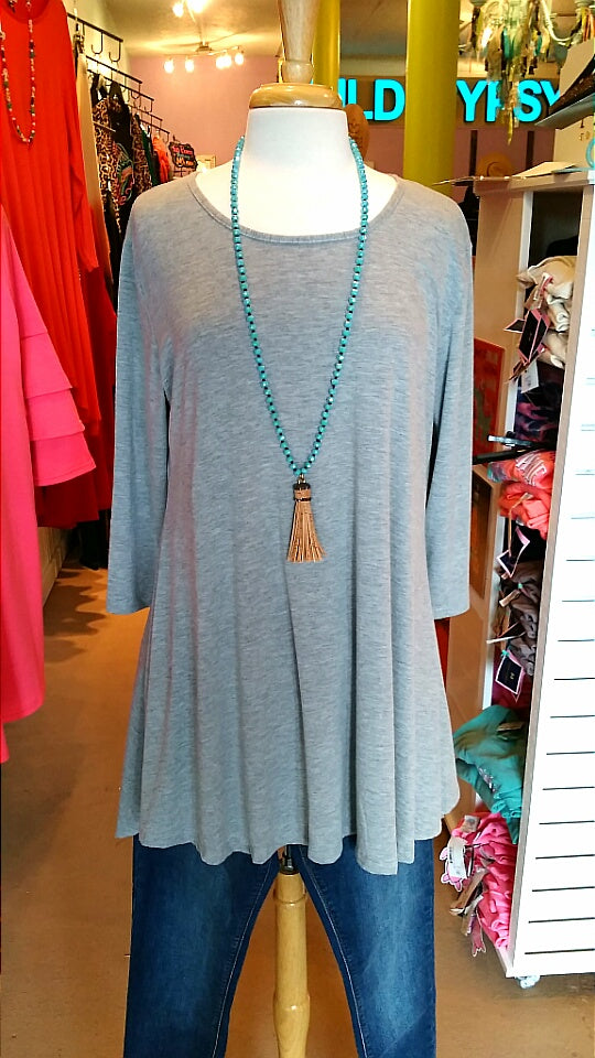 Heather Grey Tunic
