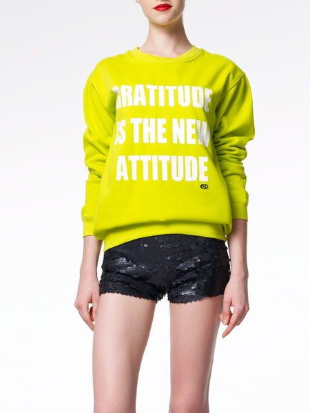 FK By Farah Khan. Gratitude Is The New Attitude Sweatshirt