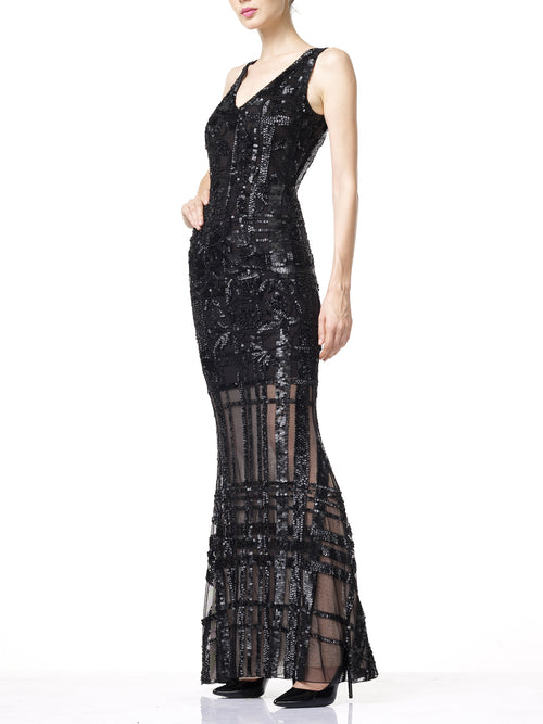 CARDI Evening Dress- Black
