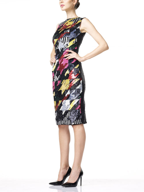 SOPHIE Midi Dress- Multi Coloured