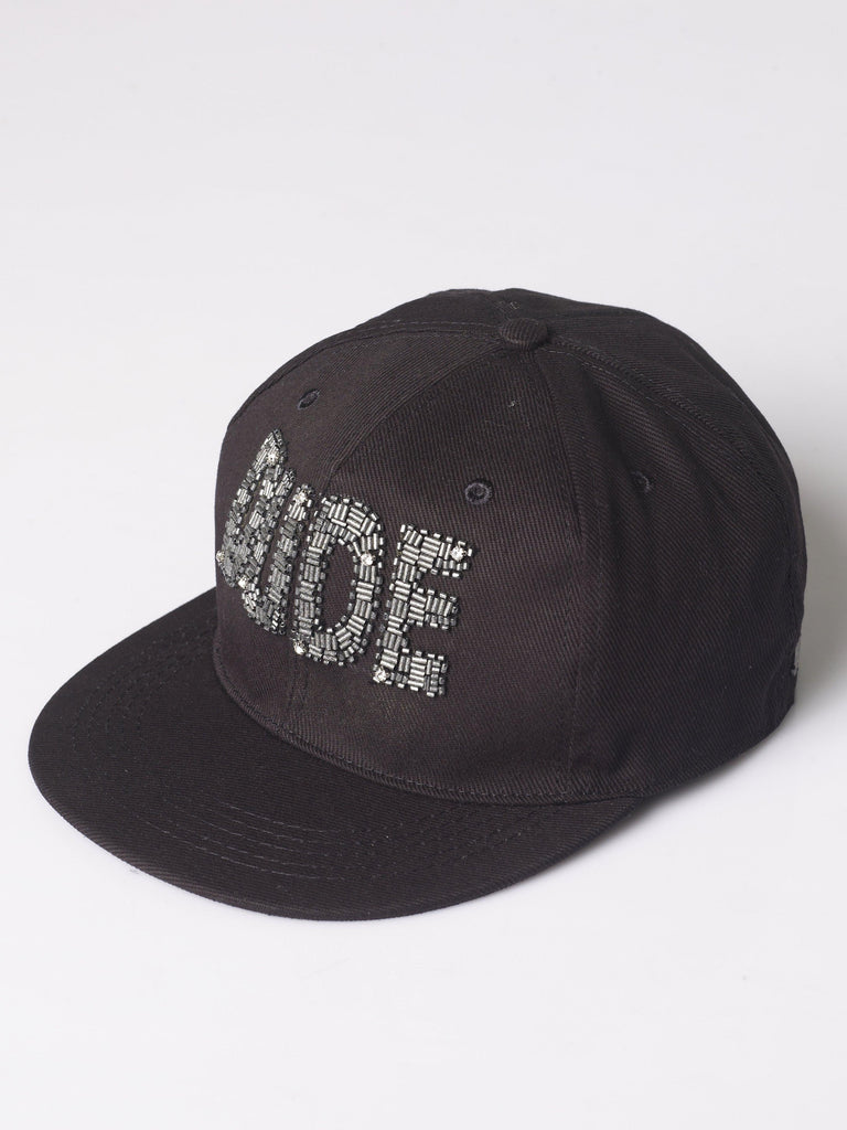 "FK ""Dude"" Hand Embellished Message Cap"