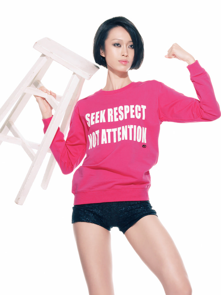 FK By Farah Khan. Seek Respect Not Attention Sweatshirt