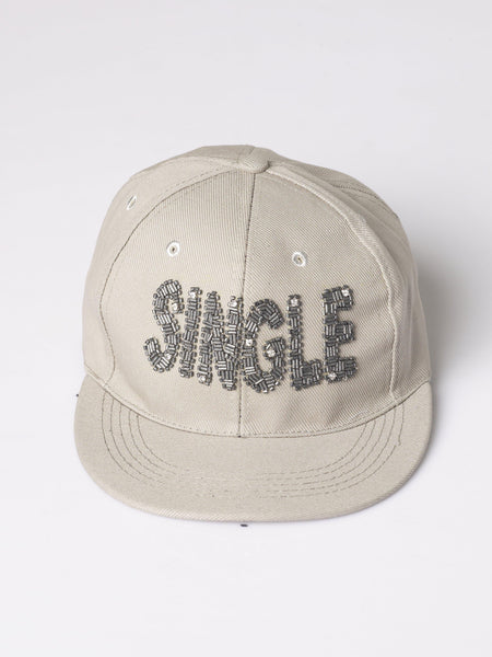 "FK ""Single"" Hand Embellished Message Cap"