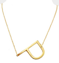 Load image into Gallery viewer, Block Letter Necklace