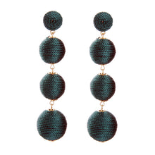 Load image into Gallery viewer, Dust Your Shoulders Off, Ball Drop Earrings