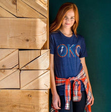 Load image into Gallery viewer, OKC Thunder Double Lines Unisex Tee