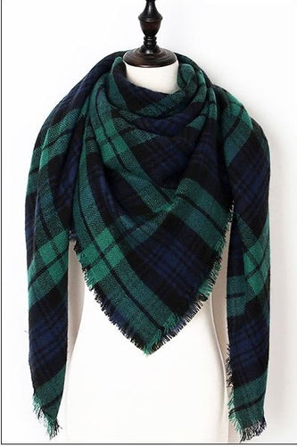 Piper Plaid Triangle Scarf