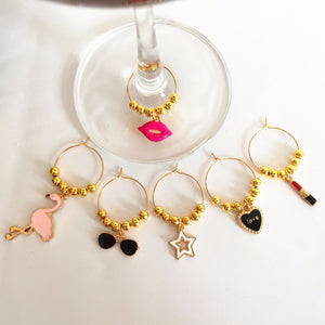 Girl Party! Wine Glass Charms