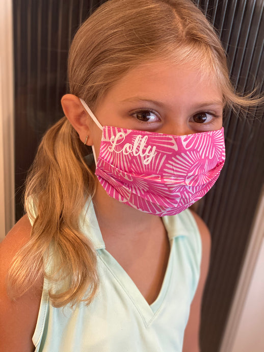 Customized Caution, Kids Face Mask