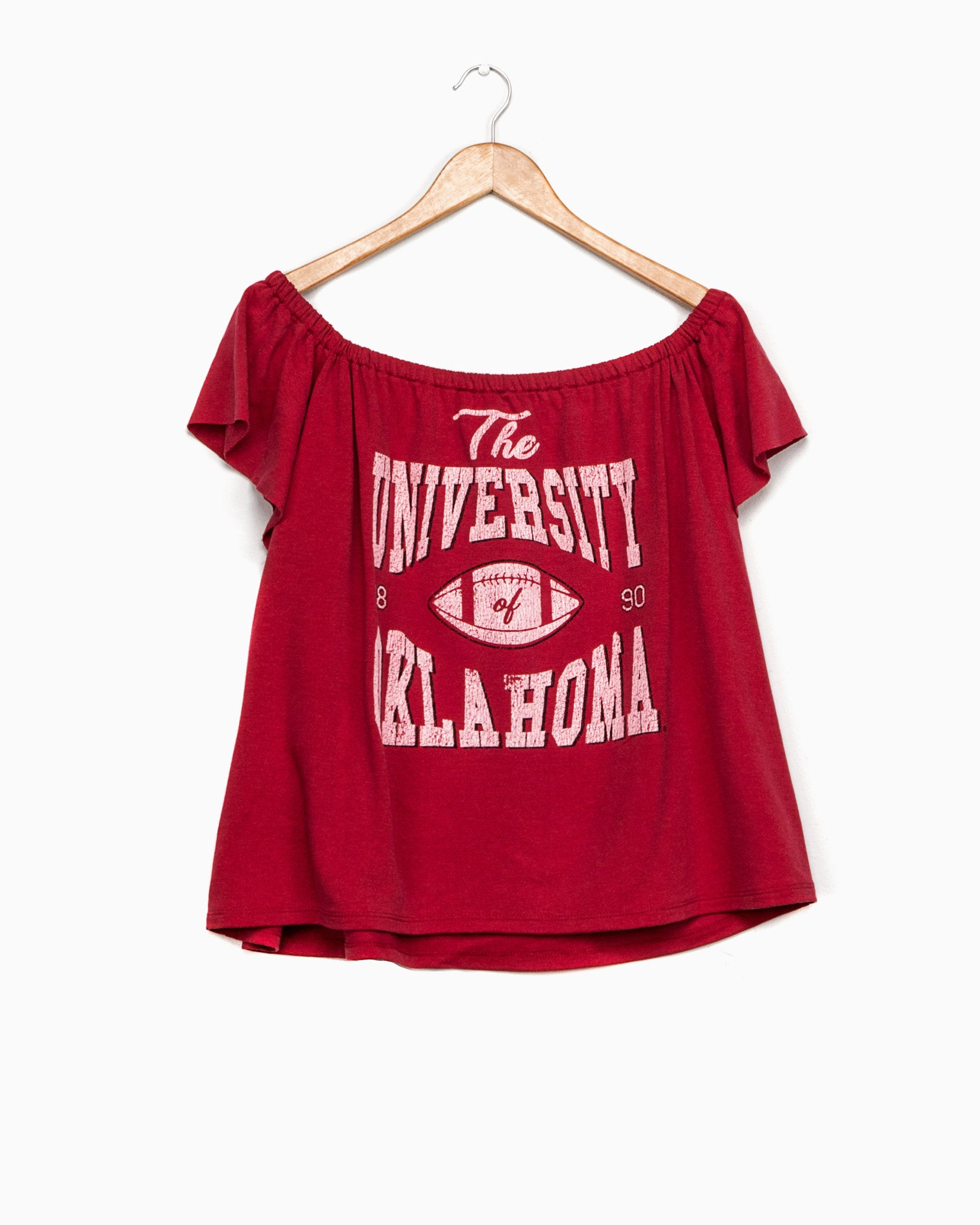 OU Classic Off-the-Shoulder Tee