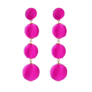 Dust Your Shoulders Off, Ball Drop Earrings