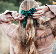 Load image into Gallery viewer, Velvet Bow Scrunchie