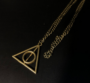 Bronze Deathly Hollows Necklace