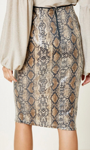 Load image into Gallery viewer, Sin-ous Snakeskin Sequin Skirt