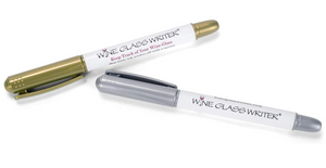 Gold and Silver Wine Glass Pens
