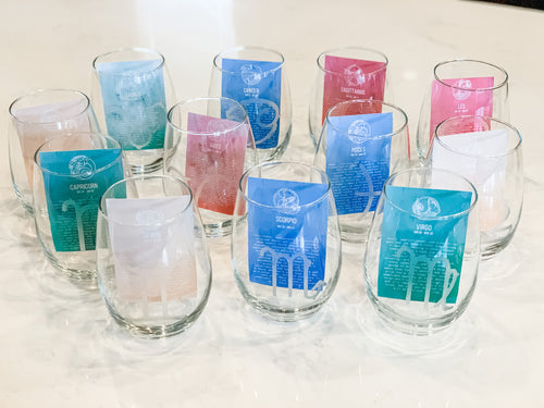 Zodiac Wine Glasses