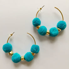 Load image into Gallery viewer, Shake Your Pom Pom, Hoop Earrings