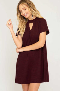 Choker A-Line Sweater Dress