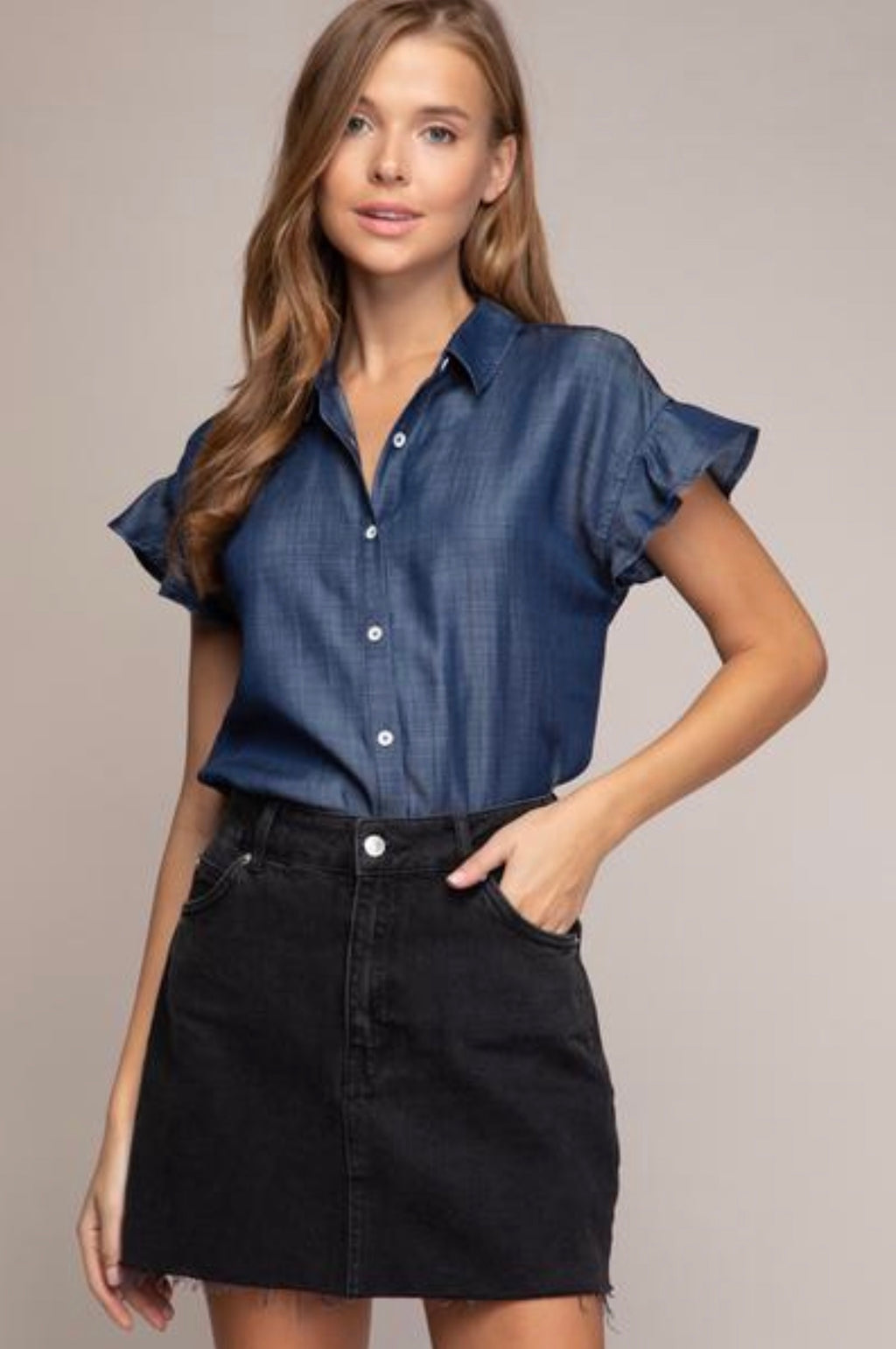 Daphne Denim Buttondown
