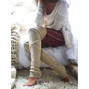 Cozy Cable Knit Leg Warmers