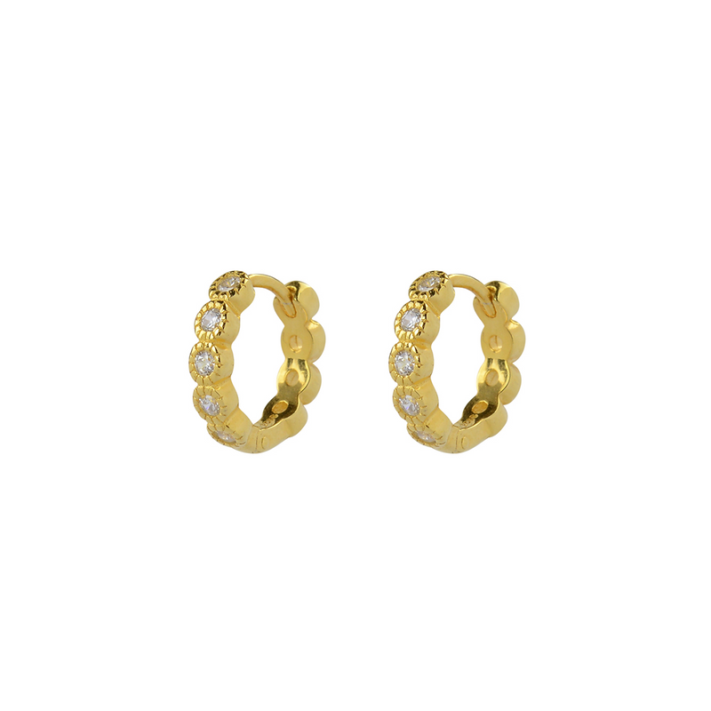 925 CZ REDONDO PILLAR EARRINGS CLEAR