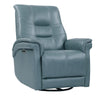 CARNEGIE - VERONA AZURE Power Cordless Swivel Glider Recliner