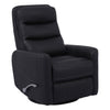 Hercules Black Manual Swivel Glider Recliner