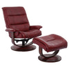 Knight Rouge Manual Reclining Swivel Chair and Ottoman