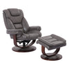 Monarch Ice Manual Reclining Swivel Chair and Ottoman