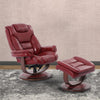 Monarch Rouge Manual Reclining Swivel Chair and Ottoman