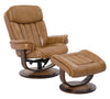 Prince Butterscotch Manual Reclining Swivel Chair and Ottoman