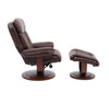 Prince Robust Manual Reclining Swivel Chair and Ottoman