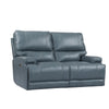 WHITMAN - VERONA AZURE - Powered By FreeMotion Power Cordless Loveseat