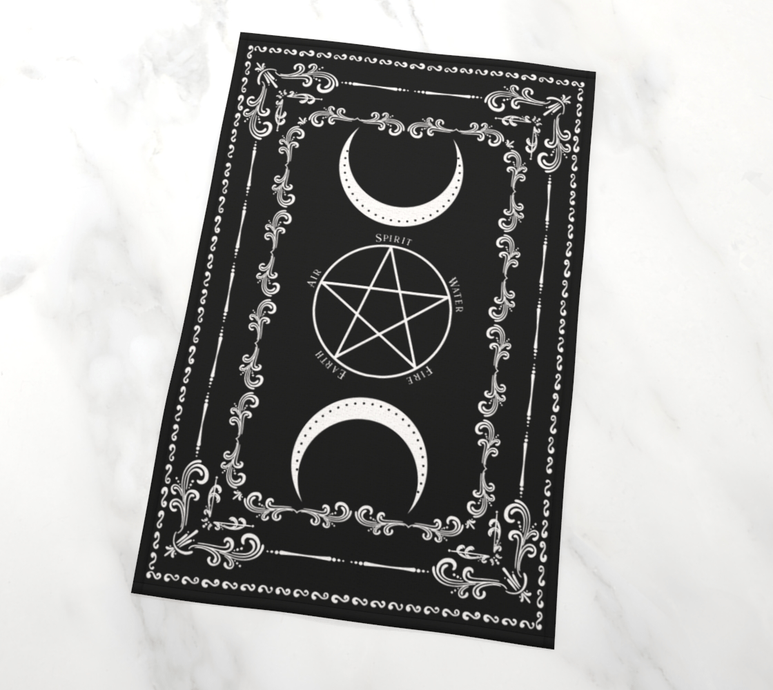 Pentacle Moon Altar Cloth