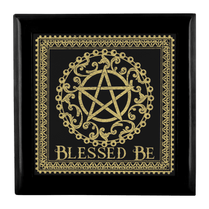 Blessed Be Altar/Keepsake Box (Black & Gold)
