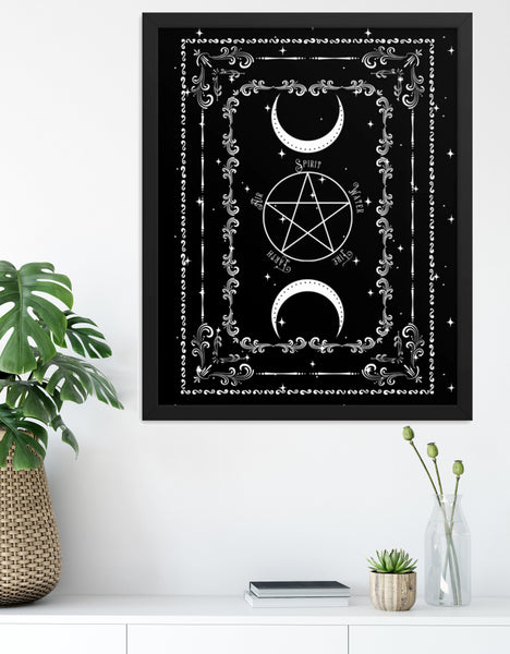 Pentacle Print Witch Home Decor