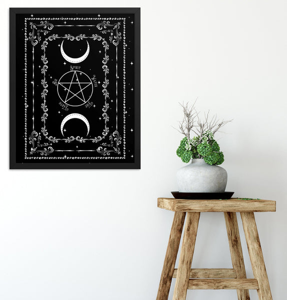 Pentacle Print Wiccan Decor