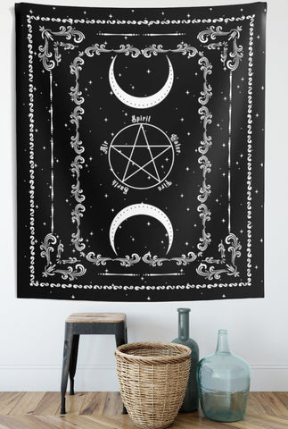 Pentacle Spirit Witch Tapestry