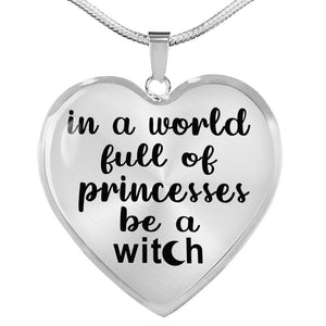 Be A Witch Pendant with Necklace Silver