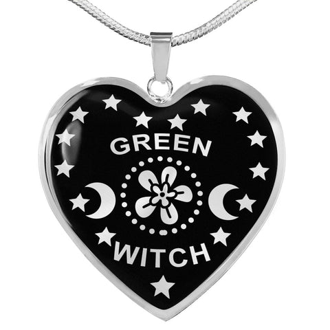 Green Witch Pendant with Necklace