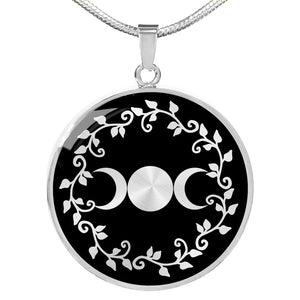 Triple Moon Pendant with Necklace