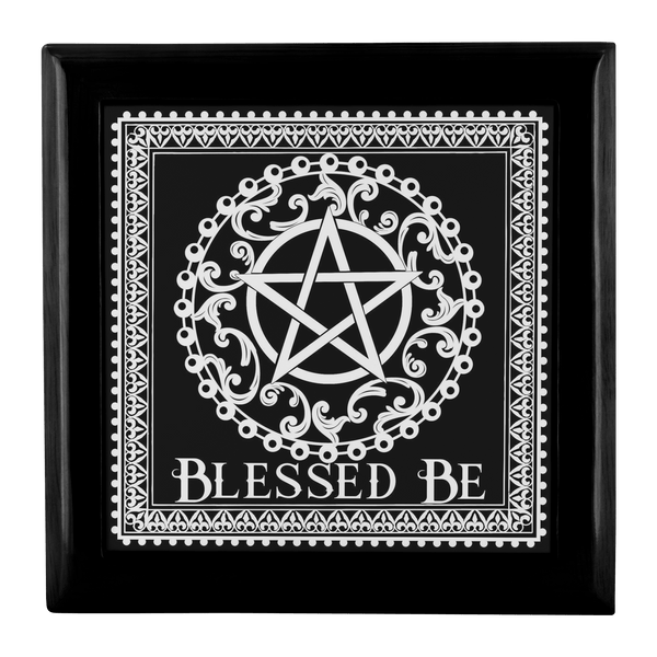 Blessed Be Altar/Keepsake Box (Black & White)