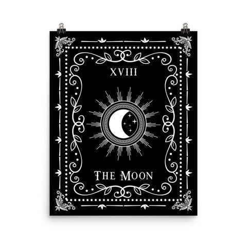 "The Moon (Tarot) - 16"" x 20"" Art Print"