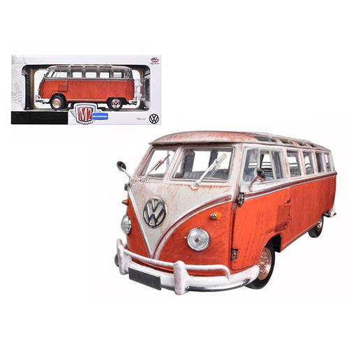 1960 Volkswagen Microbus Deluxe USA Model Red Rusted Verion