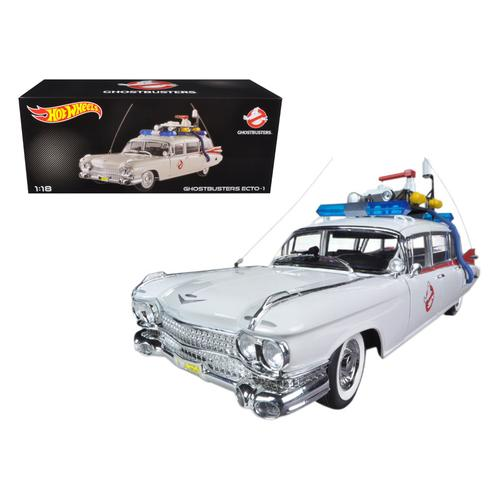 "1959 Cadillac Ambulance Ecto-1 From ""Ghostbusters 1"" Movie 1/18 Diecast Car Model by Hotwheels"