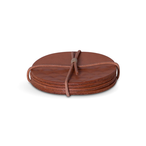 Leather Coasters Set